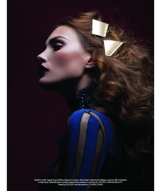 Une coiffure de magazine avec la barrette Sylvain le Hen carrée or