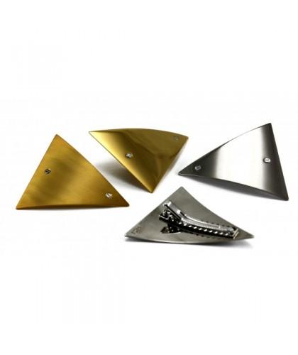 Clip cheveux en métal argent or