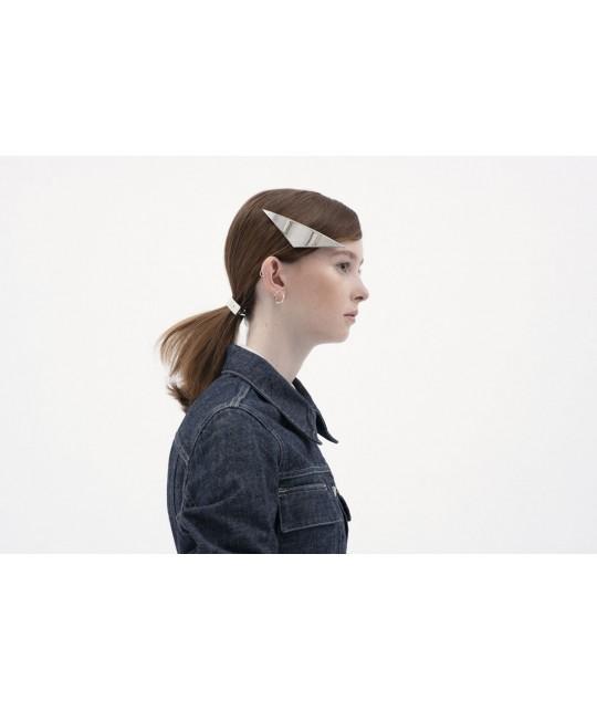 Barrette cheveux pour mariage en métal argent
