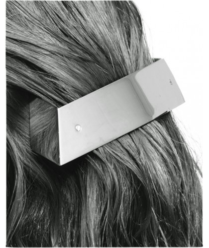 Barrette cheveux originale en métal argent