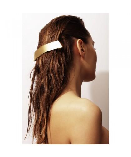 Barrette cheveux demi queue doré