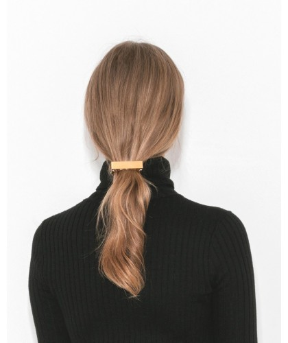 gold ponytail hair clip