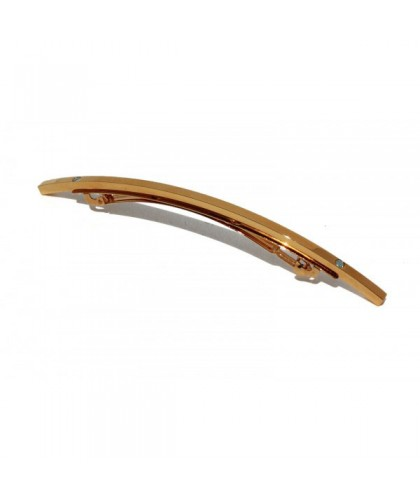 thin hair barrette in gold finish