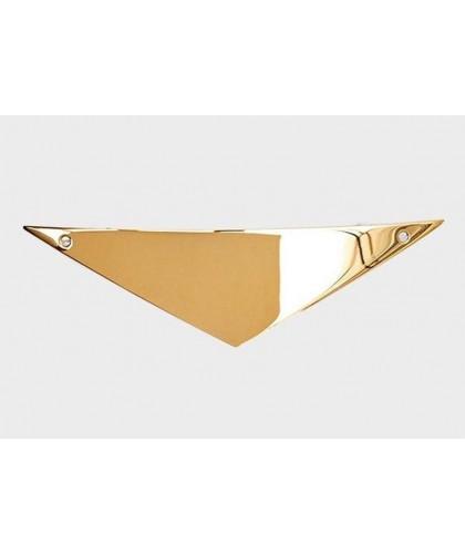 Barrette cheveux triangulaire en or luxueux
