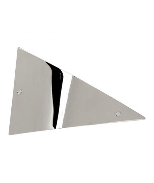 Barrette cheveux triangle effet plat en métal brillant