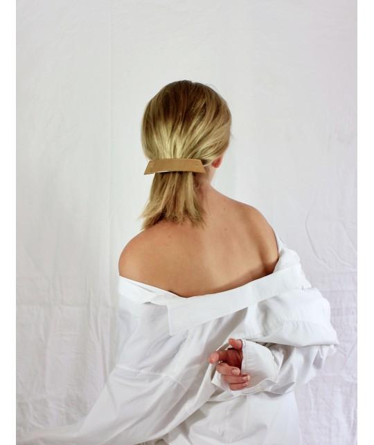 Barrette cheveux de luxe en or ou en argent vu dans les défilés de mode