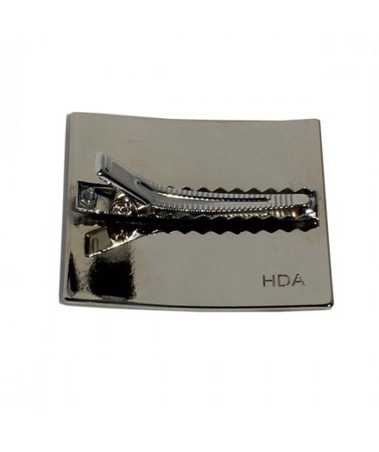 Pince agrippante pour barrette clip en argentée